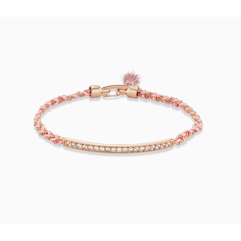 Kendra Scott Addison Rose Gold Friendship Bracelet In Pink Cord