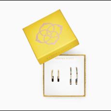 Thora & Colette Hoop Earrings Gift Set In Gold