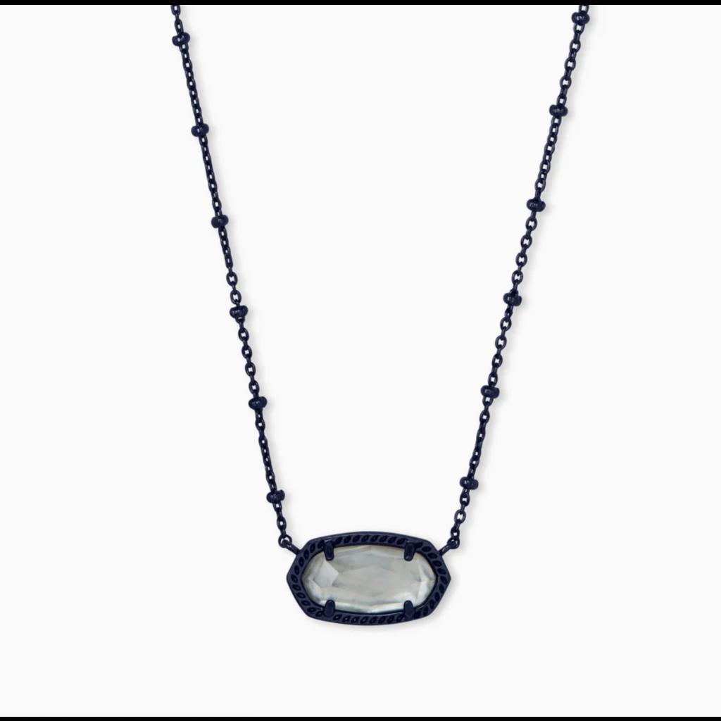 Kendra Scott Elisa Gunmetal Satellite Pendant Necklace In Gray Illusion