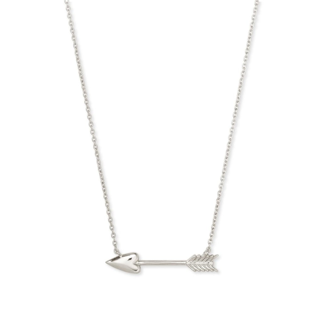 Zoey Pendant Necklace In Silver