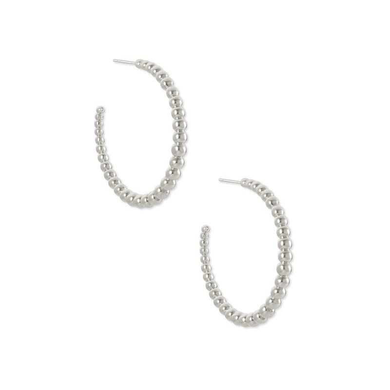Josie Hoop Earrings In Silver