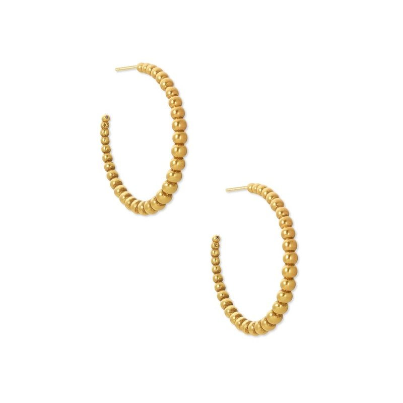 Josie Hoop Earrings In Vintage Gold