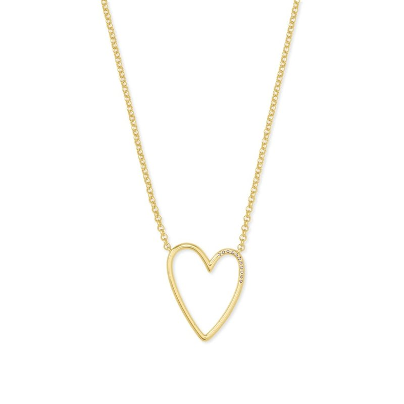 Ansley Heart Pendant Necklace In Gold