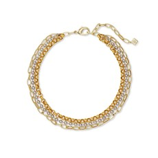 Brylee Multi Strand Necklace In Mixed Metal