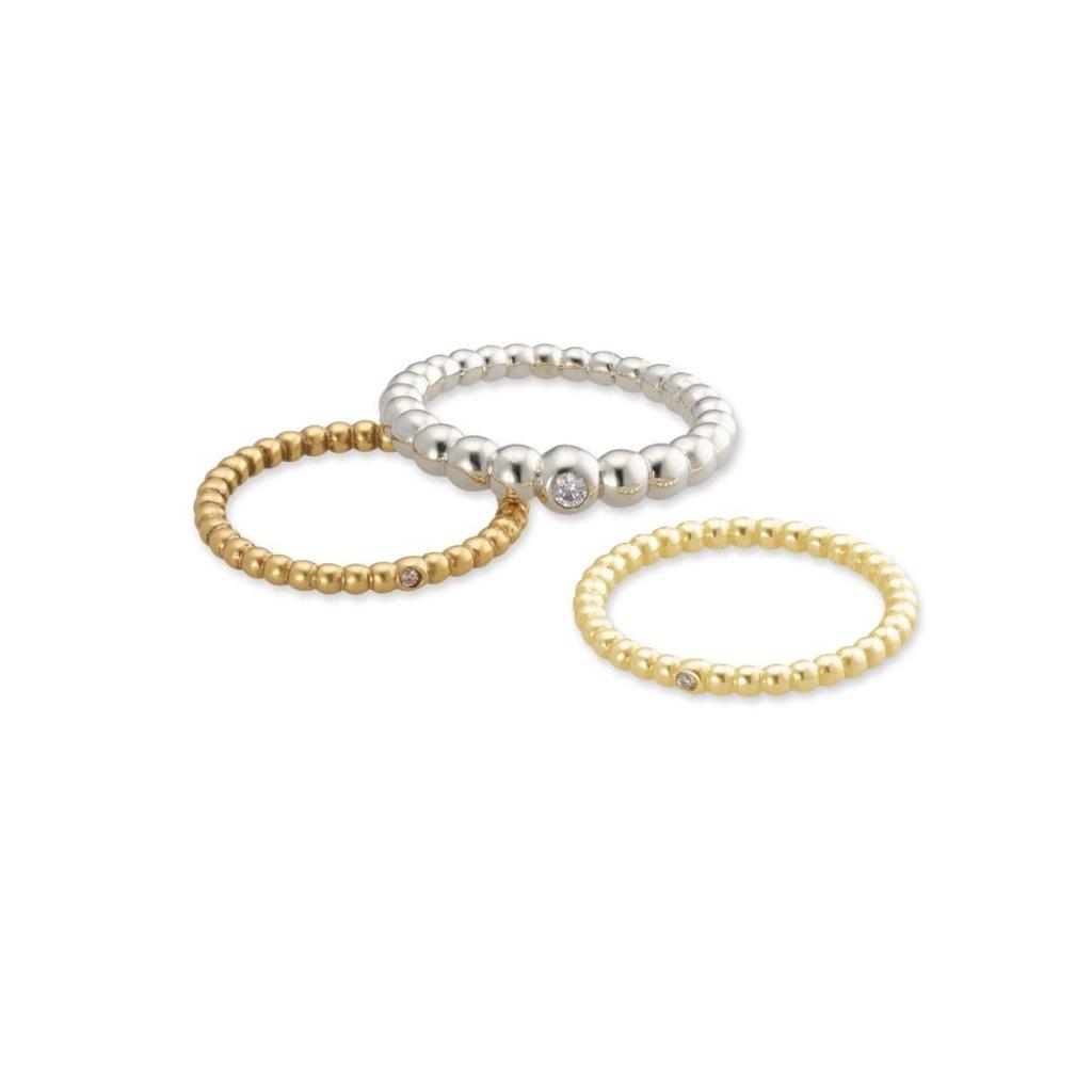 Josie Ring Set Of 3 In Mixed Metal Size 8