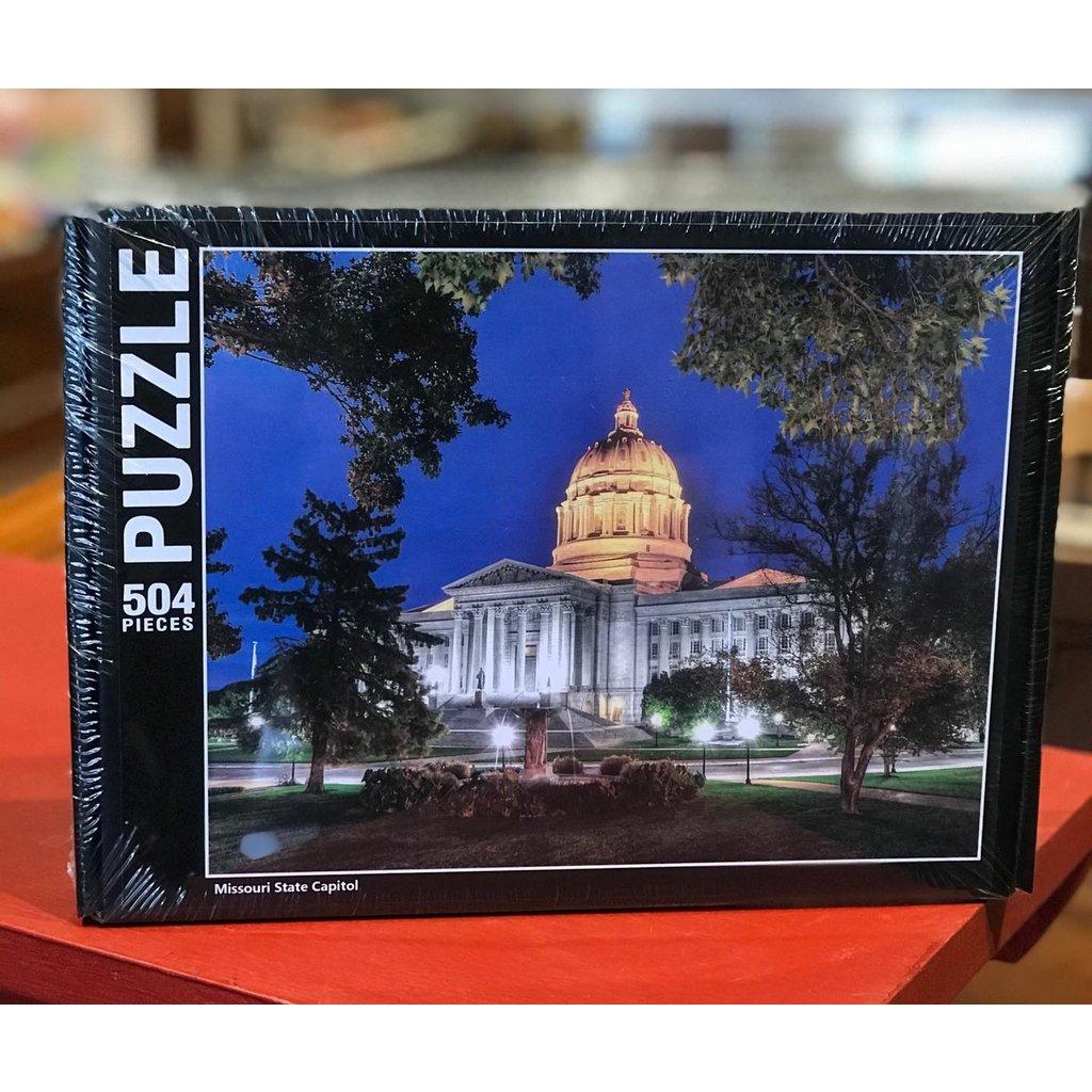 Southbank's Missouri Capitol Puzzle - Evening