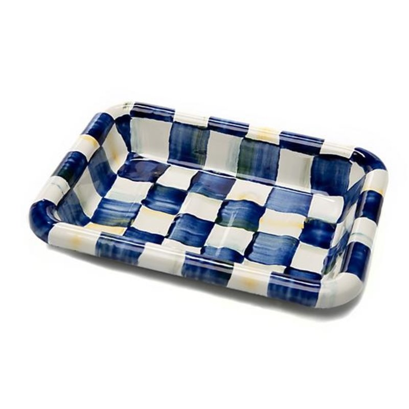 Royal Check Enamel Simply Soap Dish