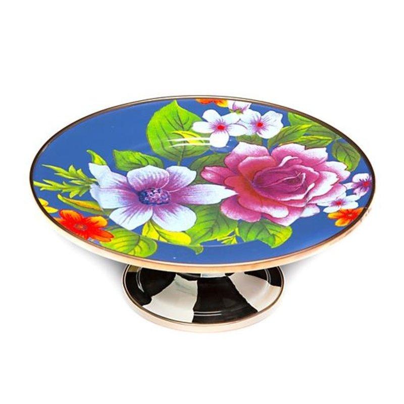 Flower Market Mini Pedestal Platter - Lapis