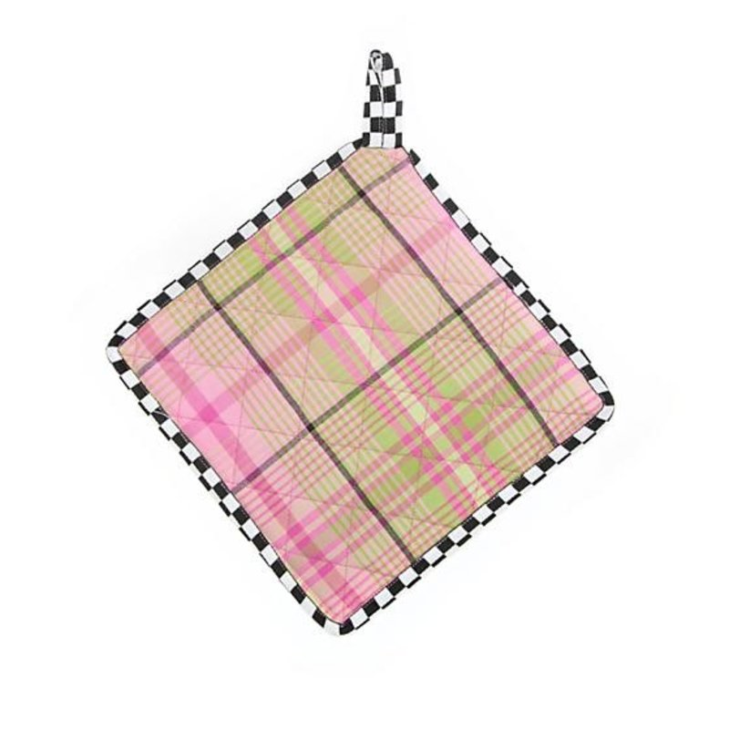 Spring Tartan Pot Holder