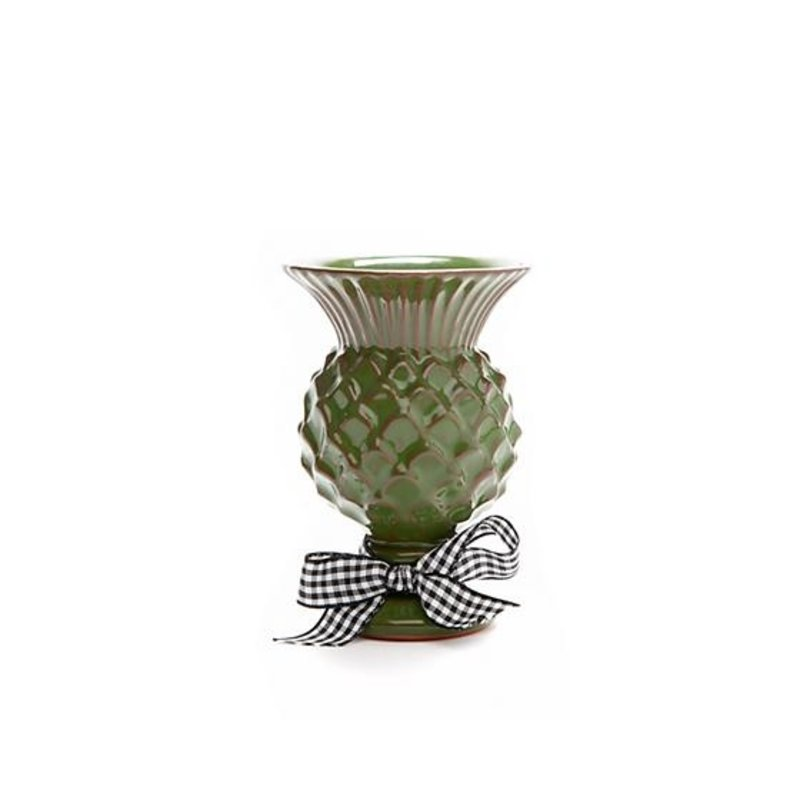 Mini Thistle Vase - Grass Green