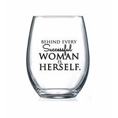 Successful Woman Wine Glass