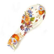 MacKenzie-Childs Flower Market Spoon Rest - White