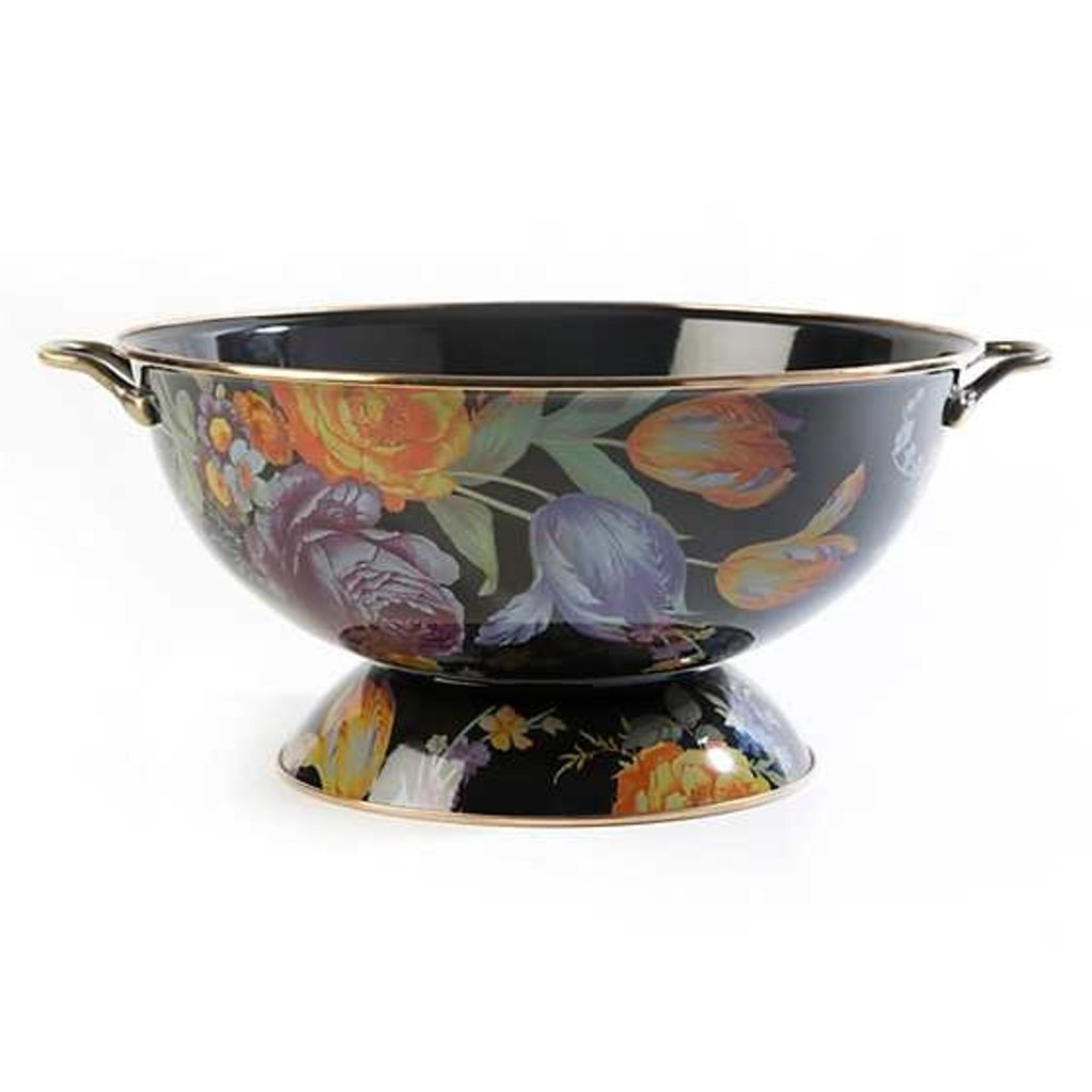 MacKenzie-Childs Flower Market Everything Bowl - Black