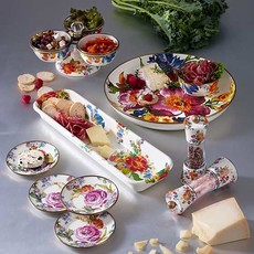 MacKenzie-Childs Flower Market Baguette Dish - White