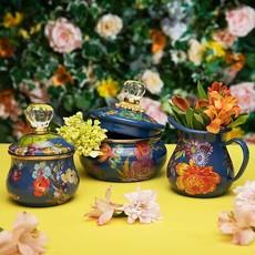 MacKenzie-Childs Flower Market Lidded Sugar Bowl - Lapis