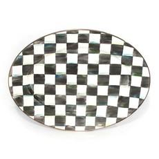 Courtly Check Enamel Platter - Medium