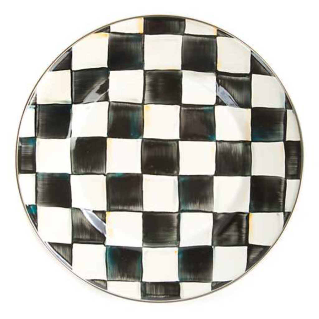 MacKenzie-Childs Courtly Check Dinner Plate