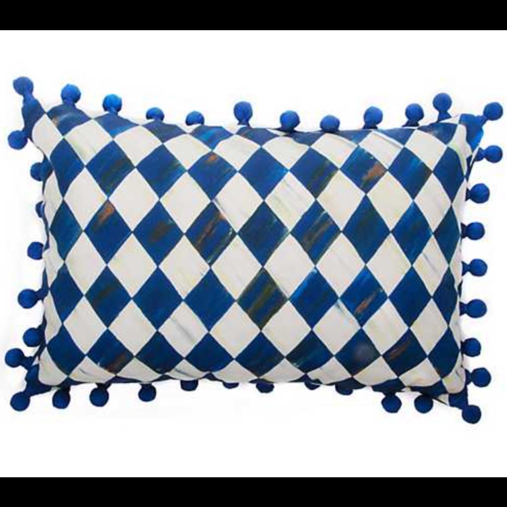MacKenzie-Childs Royal Harlequin Lumbar Pillow