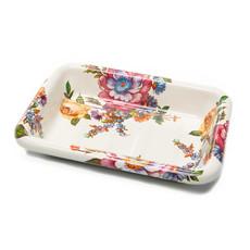 Flower Market Soap Dish - White Rectangular