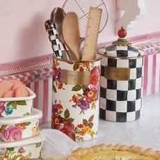 MacKenzie-Childs Flower Market Utensil Holder- White