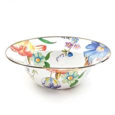 MacKenzie-Childs Flower Market Serving Bowl- White