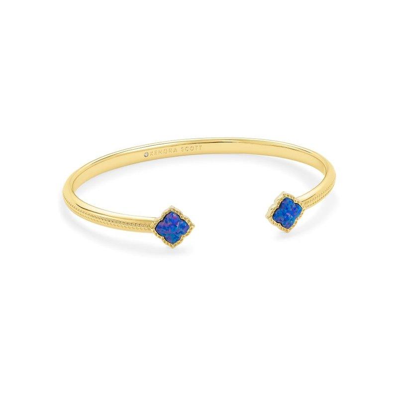 Kendra Scott Mallory Cuff Bracelet Gold Indigo Opal
