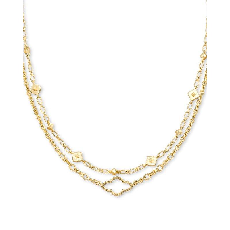 Kendra Scott Abbie Multi Strand Necklace Gold Metal