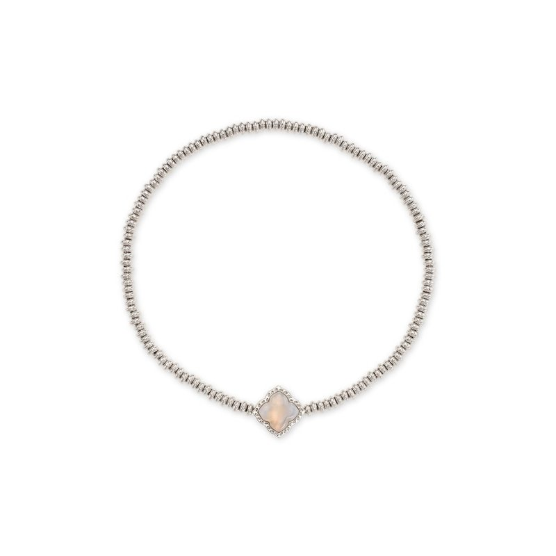 Kendra Scott Mallory Stretch Bracelet Gray Banded