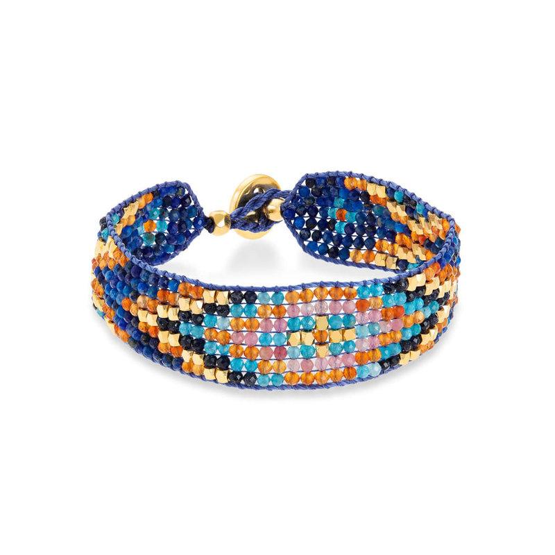 Kendra Scott Britt Beaded Bracelet Gold Multi Mix