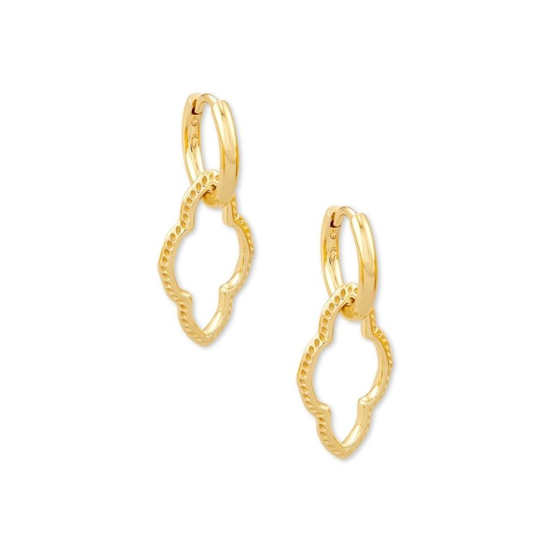 Kendra Scott Abbie Huggie Earring Gold Metal