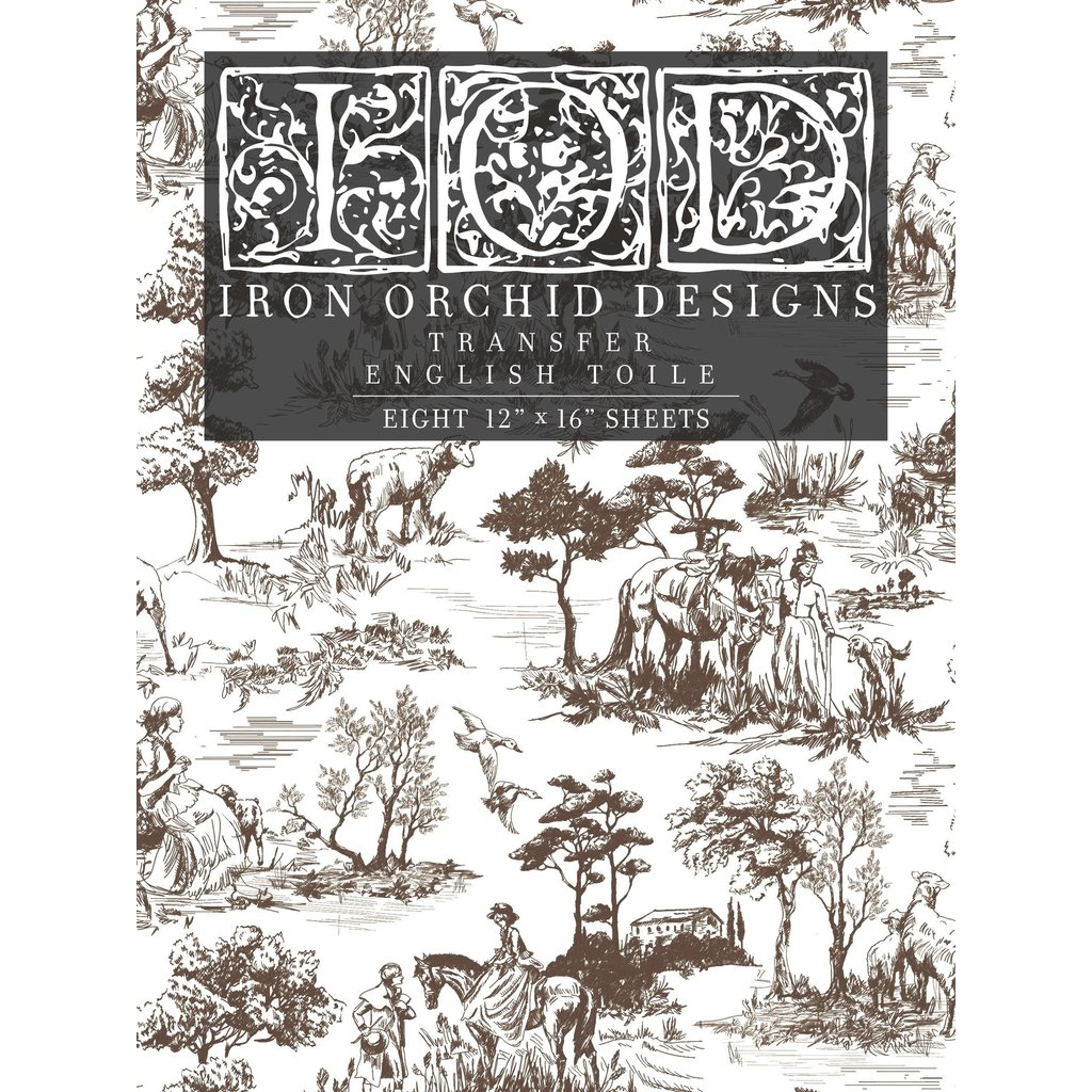Iron Orchid Designs English Toile Transfer