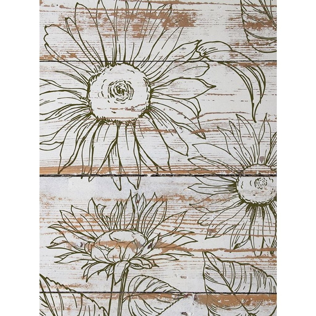 Iron Orchid Designs Sunflowers Decor Stamp
