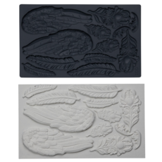 Iron Orchid Designs Wings and Feathers Decor Mould