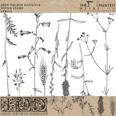 Iron Orchid Designs Sprigs Decor Stamp