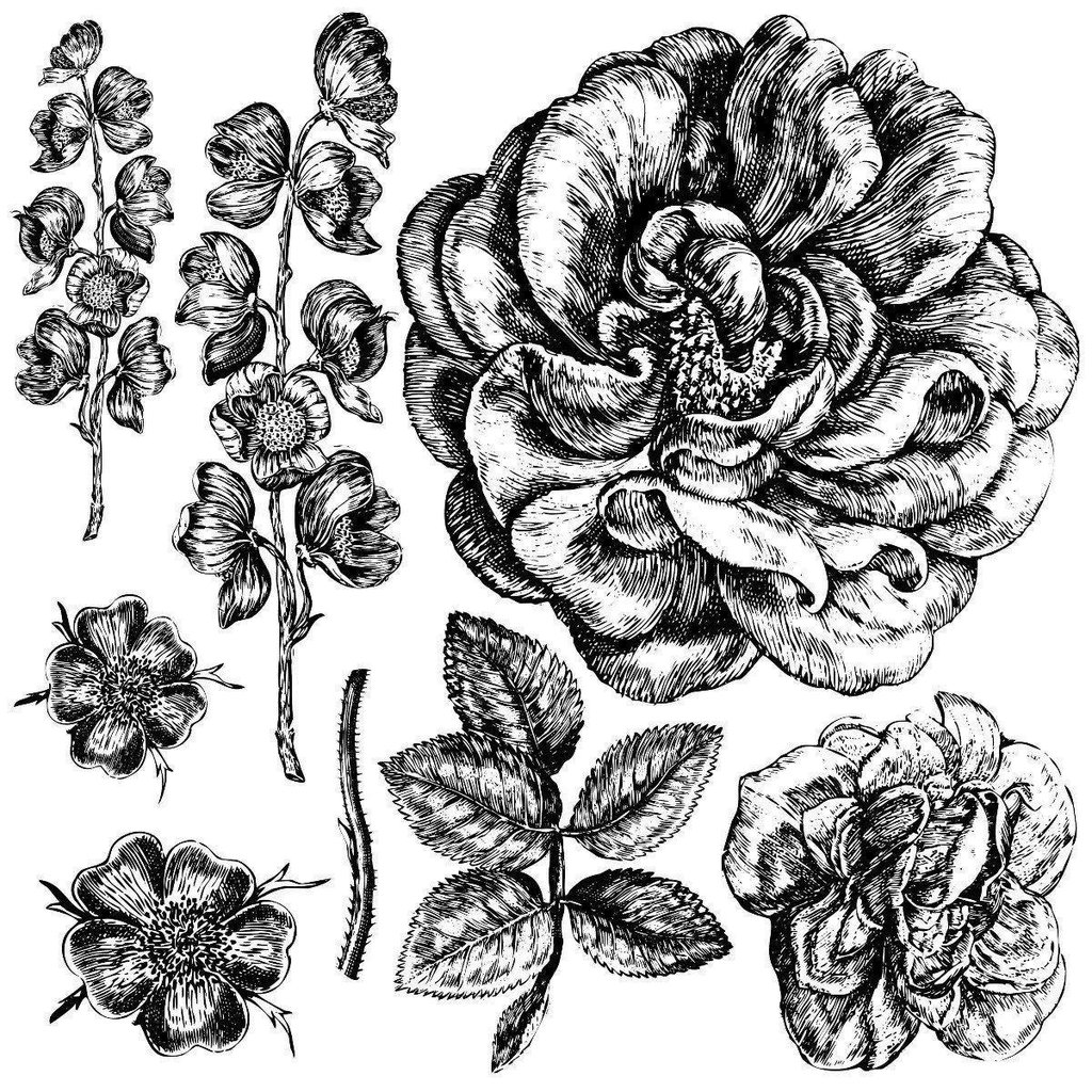 Iron Orchid Designs Lady of Shalott Decor Stamp
