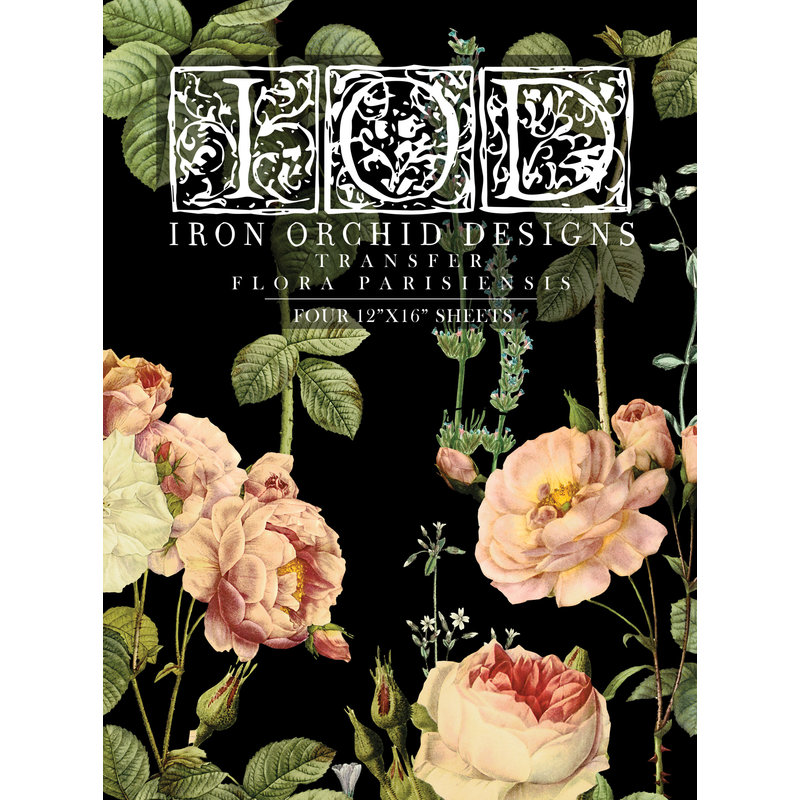 Iron Orchid Designs Flora Parisiensis Transfer