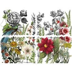 "Iron Orchid Designs Midnight Garden  12""x 16"" Transfer Set"