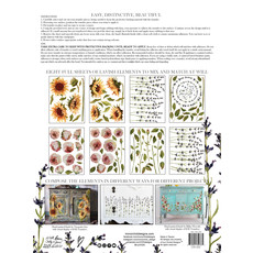Iron Orchid Designs Painterly Florals 12 x 16 transfer pad