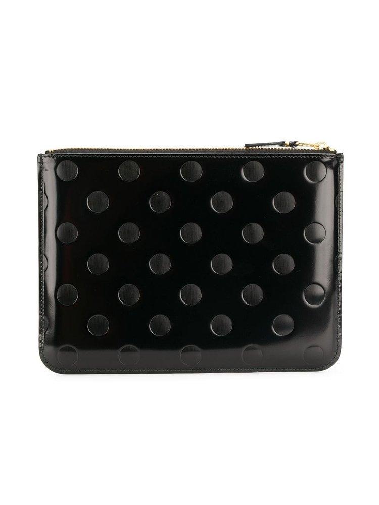 COMME des GARÇONS WALLET Embossed Leather Line Wallet