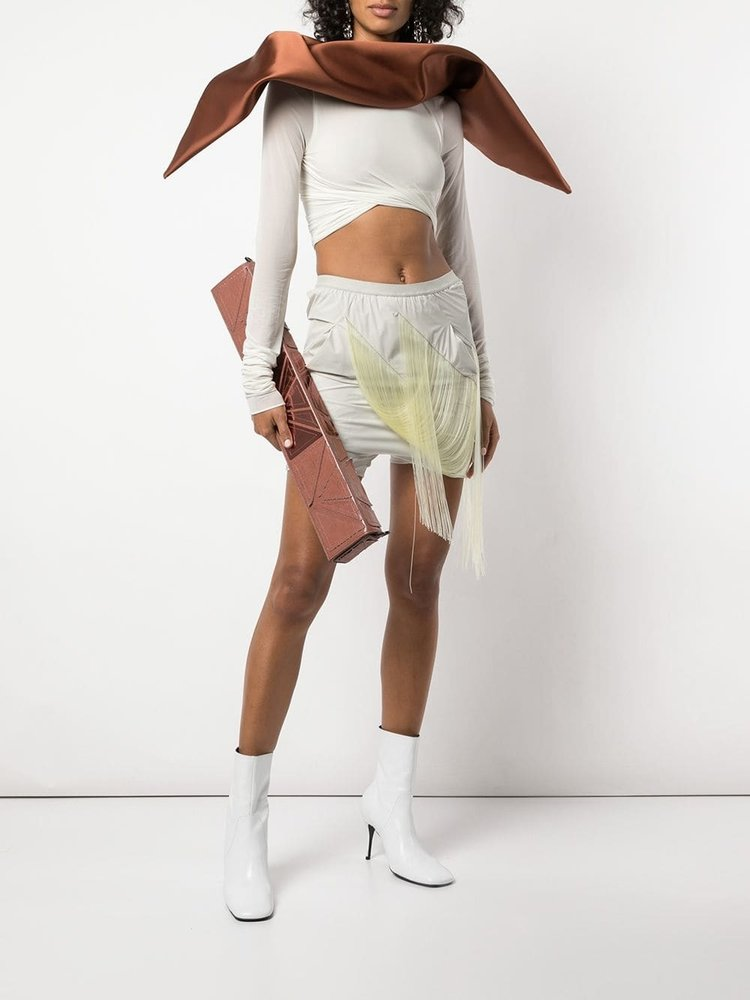 Rick Owens Scarf Cropped Top