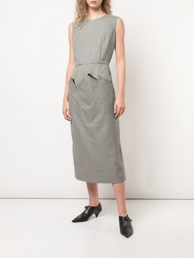 COMME des GARÇONS Wool Houndstooth Sleeveless Dress