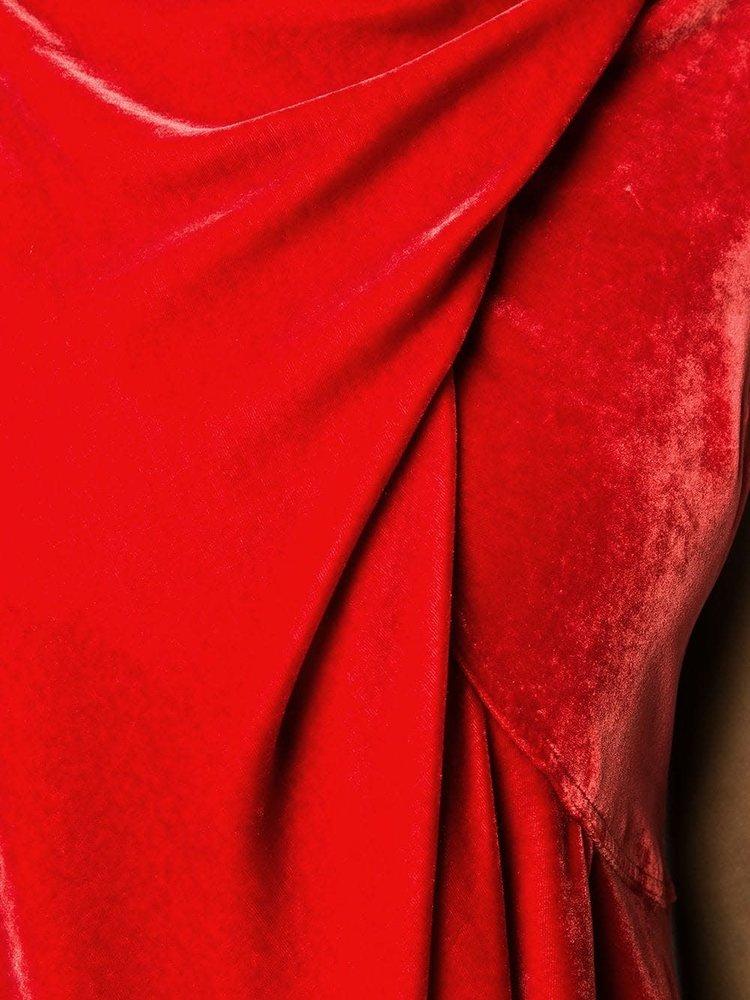 Rick Owens Slash Neck Ellipse Dress