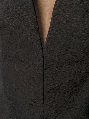 Rick Owens Sheer-Panelled Crepe Prong Top