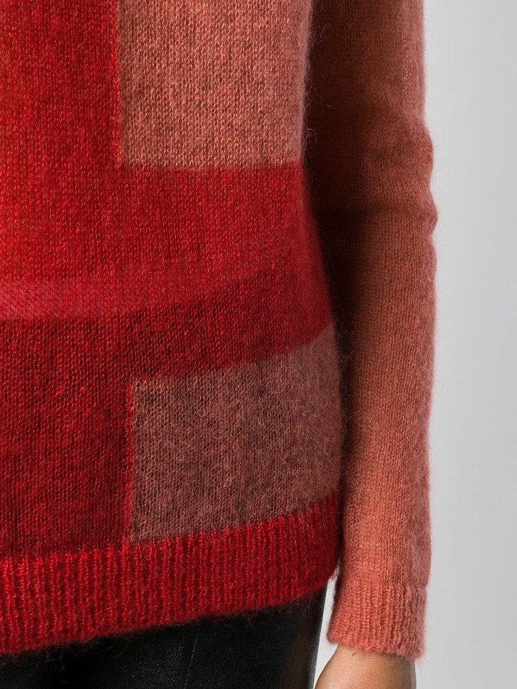 Rick Owens Colorblock Biker Sweater