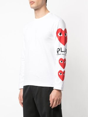 COMME des GARÇONS PLAY Hearts on the Sleeve Shirt
