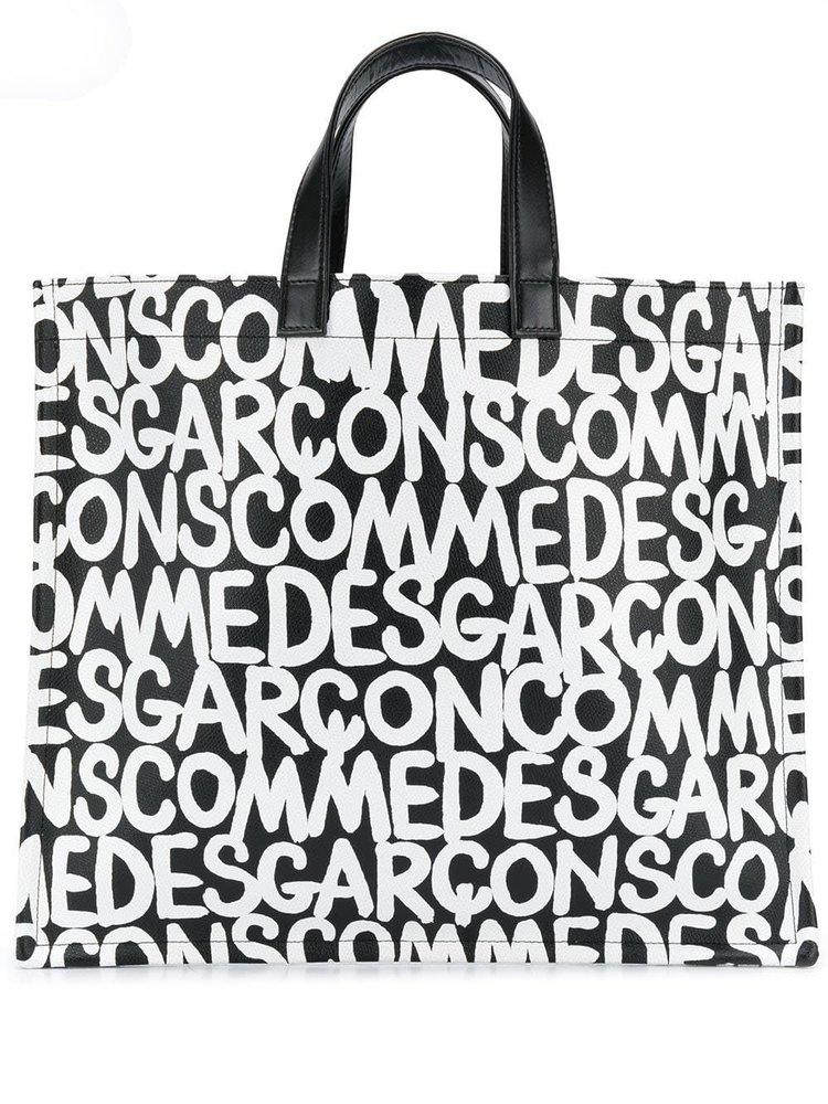 COMME des GARÇONS Logo Print Shopper Tote