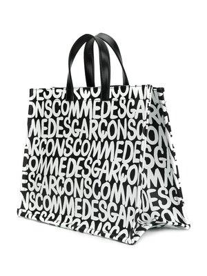 COMME des GARÇONS Logo Print Tote Bag