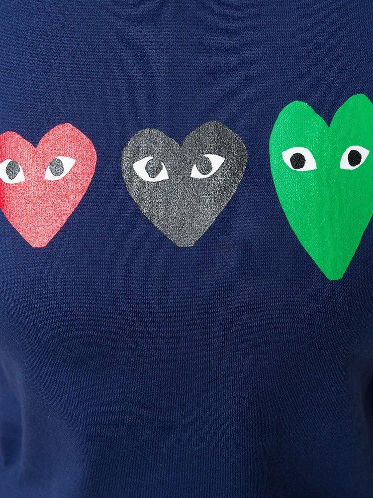 COMME des GARÇONS PLAY Three Heart T-Shirt