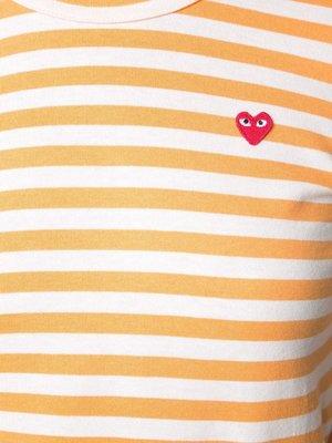 COMME des GARÇONS PLAY Mini-Heart Striped T-Shirt