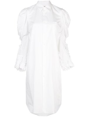COMME des GARÇONS Puffed-Shoulder Shirt Dress